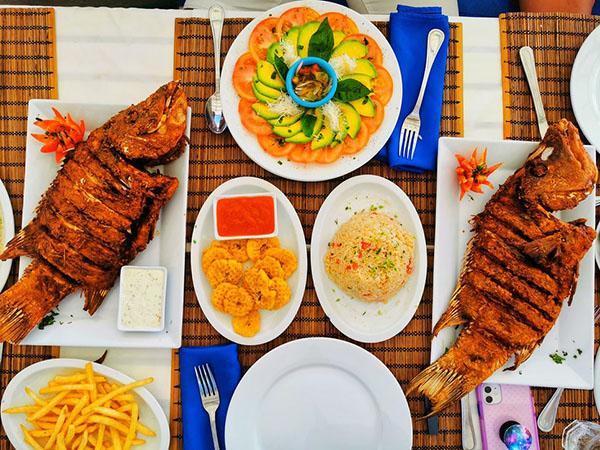 Морская рыба на обед
