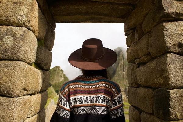 Узоры с ламой на свитере
