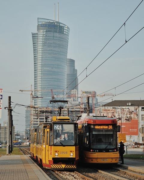 польские трамваи